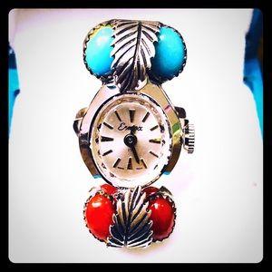 Rare Vintage Navajo Native Watch Ring